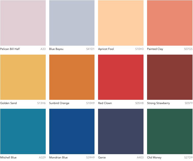 Dulux Colour Forecast 2019 - Identity palette