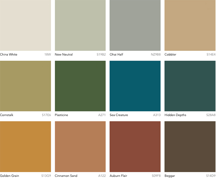 Dulux Colour Forecast 2019 - Repair palette