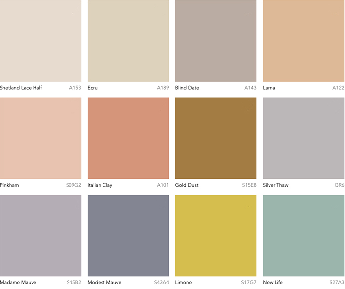 Dulux Colour Forecast 2019 - Wholeself palette