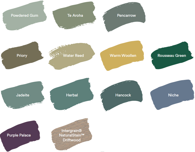 Dulux Colour Forecast 2020. Global colour trends - Cultivate palette