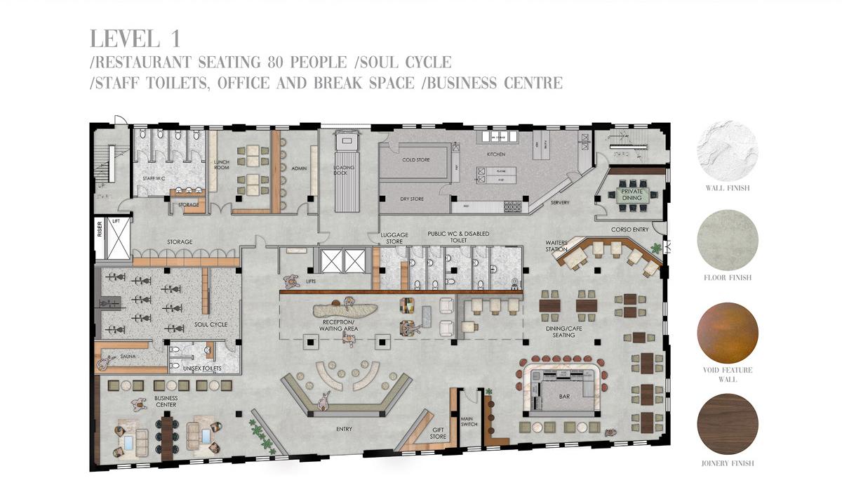 Advanced Diploma of Interior Design, Sydney Design School. Student work Teagan Fordred - Eliza Maloney - Sally Rodzen